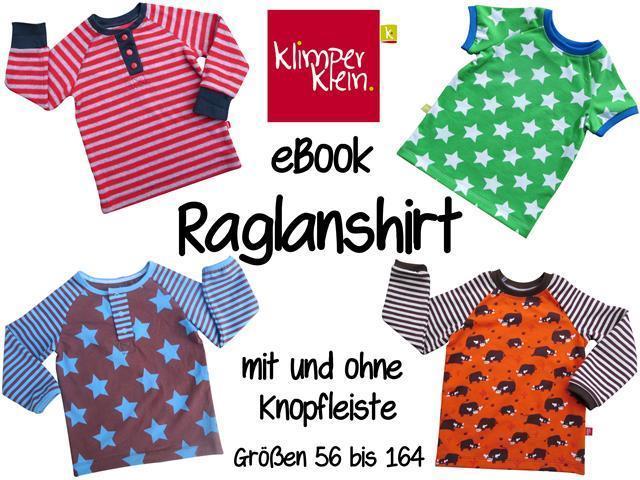 eBook Raglanshirt mit Knopfleiste - klimperklein Onlineshop