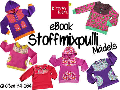 eBook Stoffmixpulli Mädels